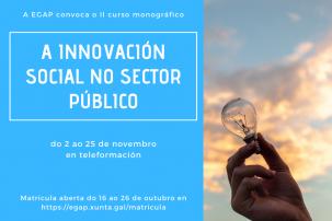 II Curso monográfico A innovación social no sector público